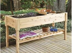 Raised Planter Box <= I want one for my Patio!
