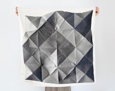Folded Paper Furoshiki (Black) Japanese Eco Wrapping Textile/Scarf, Handmade in Japan by Kyoko Bowskill on Great.ly