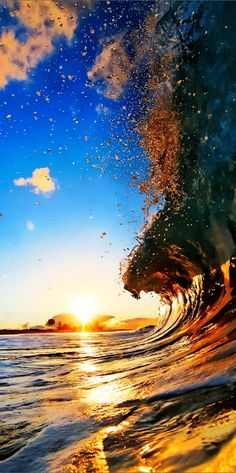 water, surfs up, the wave, sunset, the ocean, ocean waves, sea, beach, place