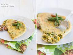 Receta de tortilla de trigueros y trufa