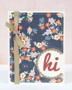 Hi Card & a Giveaway on the blog!