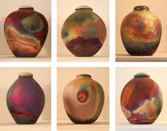 Raku vessels by Eeles Pottery ~ Photo by...Brian Snelson©