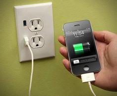 U-Socket USB Wallplug  http://www.lovedesigncreate.com/fastmac-ace-7949-u-socket-standard-duplex-dual-outlet-dual-usb-110v-15amp-truepower-almond/