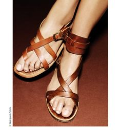 summer leather sandals.
