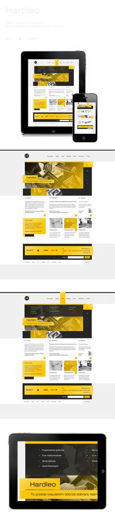 Hardleo by Piotr Laskosz, via #Behance #Webdesign #Mobile #Digital