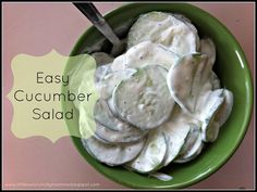 LittleOwlCrunchyMomma: Easy Cucumber Salad