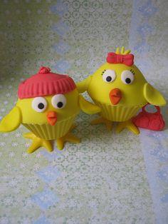 Mr & Mrs Chick Cupcakes