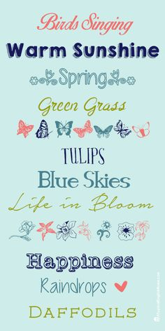 A Typical English Home: Spring Fonts 2014