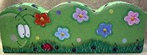 Painted Paver -  Worm with Flowers