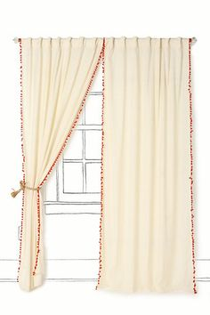 curtains with ball fringe...
