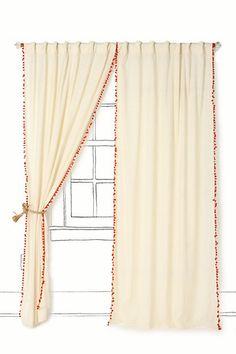 pom pom curtains!
