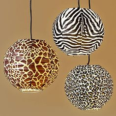 Lanterns lantern, safari theme, living rooms, anim print, animal prints, animal print decor, light, leopard, hanging lamps