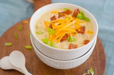 Crockpot Loaded Potato Soup.