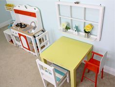 play kitchen- love the window!
