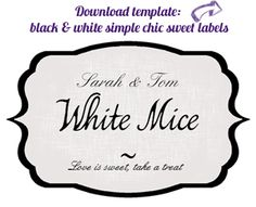 FREE Template I used for my candy buffet jar labels