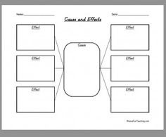 & Effect on Pinterest | Cause And Effect, Worksheets and 4th Grade ...