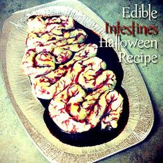 Edible Intestines - Perfect Halloween Party Recipe - Made this before with homemade cherry pie filling.. planning on making it again this year :)