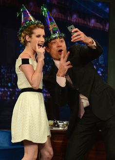 Jimmy Fallon - Emma Roberts Visits 'Late Night with Jimmy Fallon'