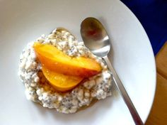 Maple Peach Chia Pudding