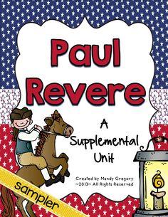Paul Revere (Third Grade GA Heroes) Resources {FREEBIE}