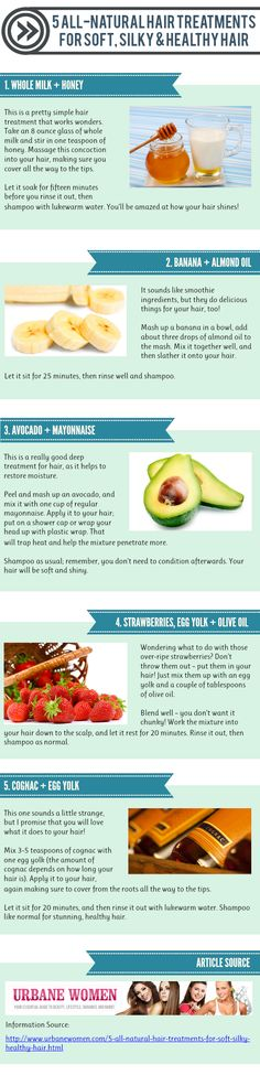 5 All-Natural Hair Treatments For Soft, Silky & Healthy Hair [Infographic]
