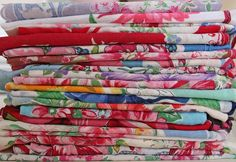 vintag handkerchief, vintag hanki, vintage linens display, hanki panki