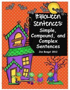 classroom, complex sentenc, graphic organizers, halloween resourc, compound sentenc, teach, halloween languag, grammar, languag printabl