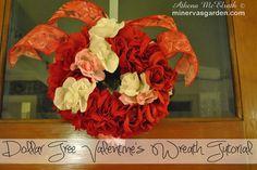 Minerva's Garden:  Dollar Tree Valentine's Wreath Tutorial