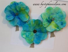 Coffee Filter Clovers. These are so girly!