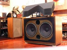 JBL 2395 slant plate over JBL #speaker audiophilia, vintag hifi, hifi speaker, loudspeak, qualiti sound, vintag audio
