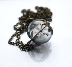 Real Dandelion Necklace