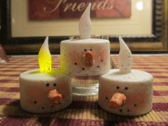 2012  Painted votive snowmen
