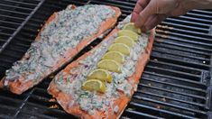 grilled salmon with dill sauce....amazing. adding to the recipe book.