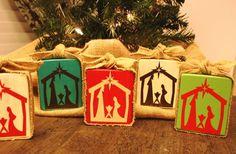 Wooden Nativity Block--soooo easy to make!