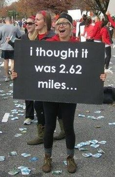 OOPS! #Marathon #Confusion  from #RunTheEdge on Facebook