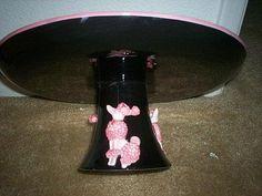 Poodle cake plate pedestal base