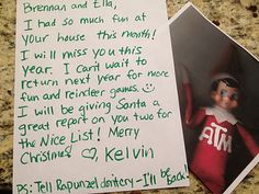 Christmas Morning  10-4, Mr. C. Reporting back to base. Over and Out.  --Captain K.T. Elf