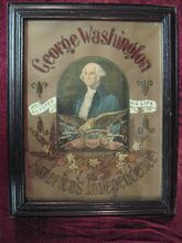 Rare, Antique  Victorian George Washington Hand Made Punch Paper