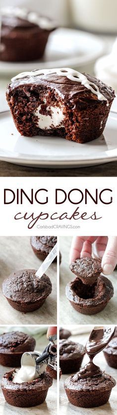 Ding Dong Cupcakes a