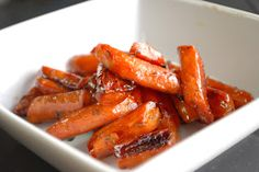 Simply Mangerchine: Honey Balsamic Roasted Carrots