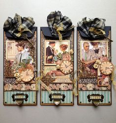 Paperiah: Graphic 45 Father's Day Envelope Card Trio Tutorial!