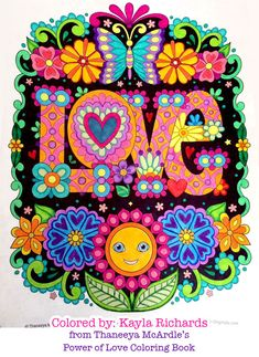 Love coloring page from Thaneeya McArdle's Power of Love Coloring Book