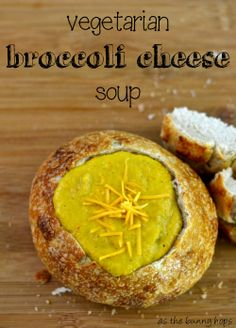 Make this easy and delicious broccoli cheese soup with a vegetarian twist.