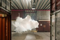 A Dutch artist has captured a fluffy white cloud in a beaux-arts style room in San Francisco for the latest in his photography series of indoor clouds. #design#art #photography