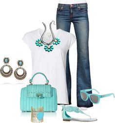 """Funky Jewelry And White Tee"" by sherryvl on Polyvore"