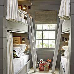 2012 Ultimate Beach House Room Tour | Boys' Bunk Room | CoastalLiving.com