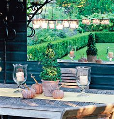 Smart way to make a small outdoor space appear larger - mirror magic!