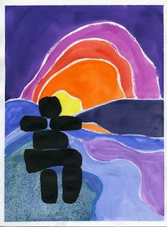 that artist woman: Painting in the style of Ted Harrison Beautiful easy Ted Harrison project