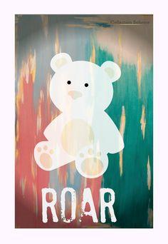 Nursery Print  Polar Bear  Roar  Kids Print by CollectionBoheme, $27.00