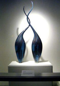 Jeremy Cline's blown glass Bird of Paradise, 2002